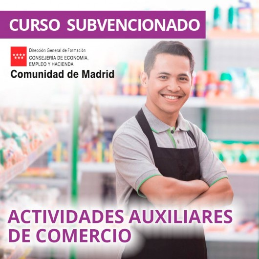 Actividades auxiliares de comercio. Certificado de profesionalidad. Madrid