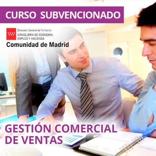 Gestión comercial de ventas. Certificado de profesionalidad. Madrid