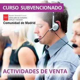 Actividades de venta. Certificado de profesionalidad. Madrid